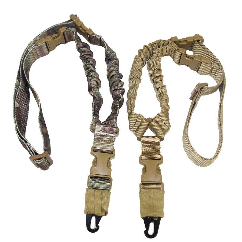 Tático Um Ponto Bungee Rifle Gun Sling Strap Sistema de Cinta de Nylon Ajustável Ponto Único Rifle de Caça Frete Grátis