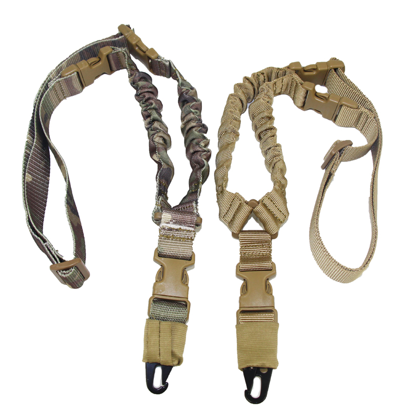 Tactical One Point Bungee Rifle Gun Sling Strap System Hunting Adjustable Nylon Single Point Rifle Strap Free Shipping