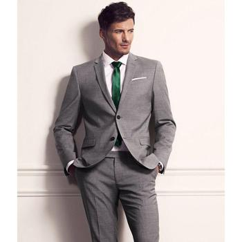 Tailor Made Men Classic Suit Two Buttons Formal Blazer Groom Prom Morning Tuxedo C24