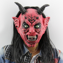 Scary Devil Mask Costume Cosplay Adult Halloween Demon Mask Cosplay Carnival Dress Up Props halloween rhino demon w two horns mask pink