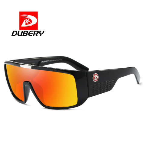DUBERY Vintage Retro Big Oversized Shield Sunglasses Men Coating Mirror Driving Sun Glasses 2018 Eyewear Male Goggles Karachi