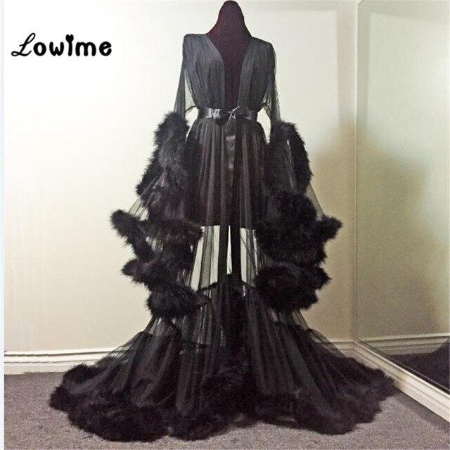 Plus Size Evening Dresses Black Feather