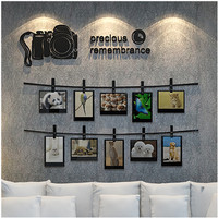 3D stereo camera pattern photo stickers acrylic bedroom wall decoration wall photo background and creative personality