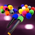 "10Pcs/lot Colors Colorful Handheld Stage Microphone Windscreen Foam Mic Cover 2.8""x2.3"" 1pcs in each color"