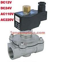 Бесплатная доставка 1/2 ''нормально открытый 2 Way Нержавеющаясталь Витон электромагнитный клапан DC12V DC24V, AC110V или AC220V