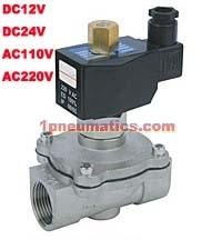 Livraison gratuite 1/2 ''normalement ouvert 2 voies en acier inoxydable VITON électrovanne DC12V DC24V, AC110V ou AC220V