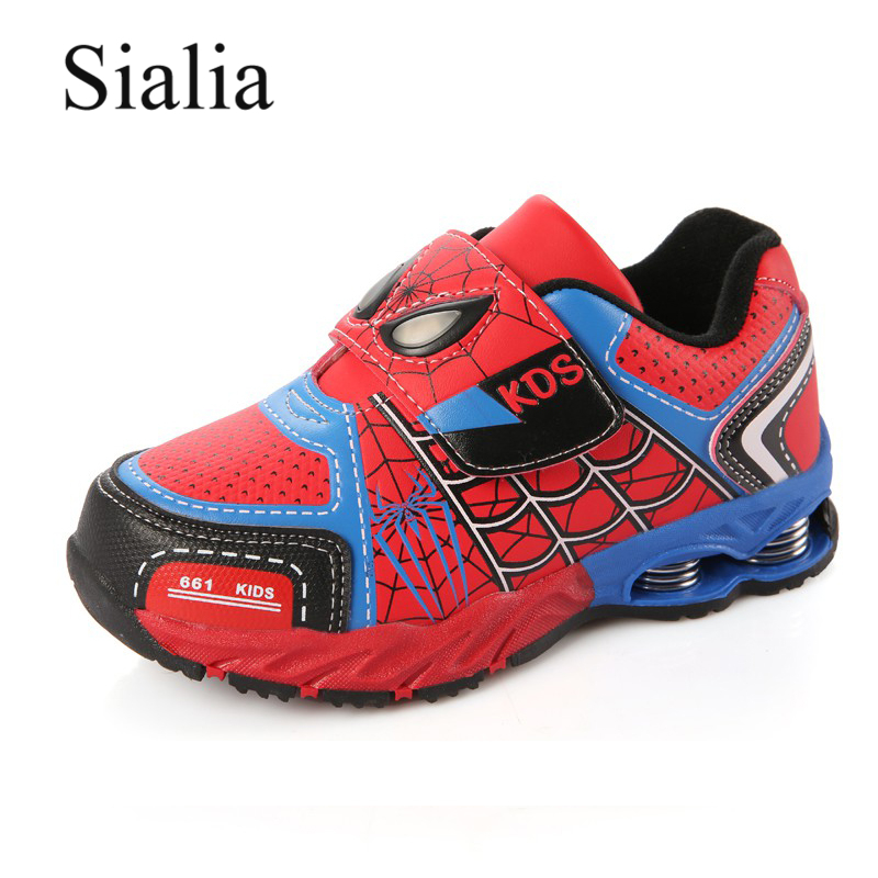 Sialia Autumn Children Shoes Kids Sneakers For Boys Winter Sneakers Boots Leather Spiderman Trainer School Running Footwear 2018