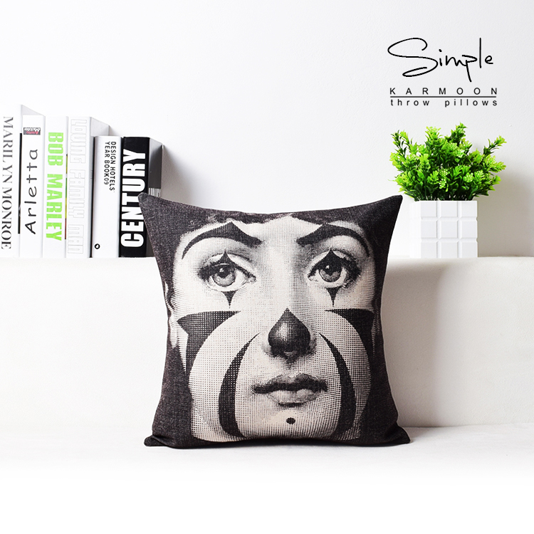 Fornasetti Art Cushion Cover Nordic Vintage Retro Girl Face Cushion Covers  Home Decorative Linen Pillowcase-in Cushion Cover from Home   Garden on ... baa947933