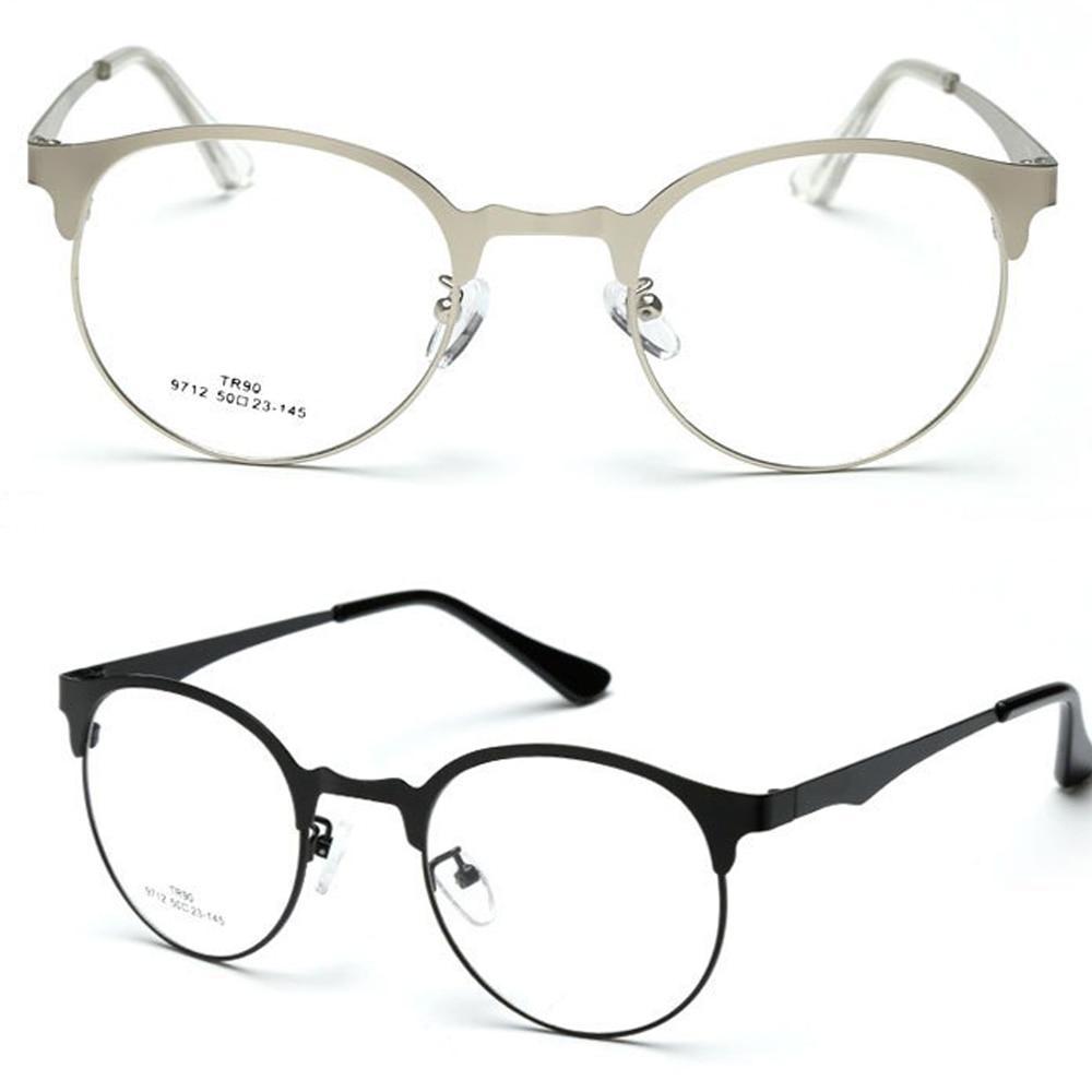 Retro Runde Browline Brillen Ultra Thin RAHMEN NACH MAß OPTISCHE ...