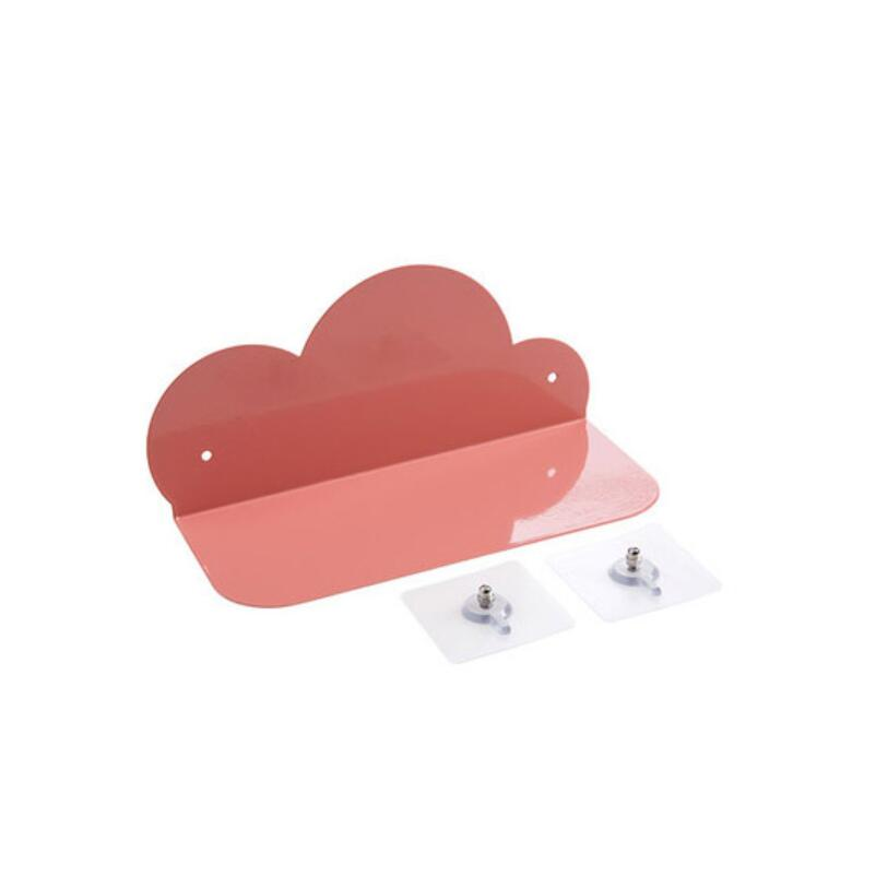 Cloud Wall Shelf Hole Free Wall Hanging Shelf Living Room Bedroom Wall Decoration Iron Non Folding Rack Holder Shelves Storage in Storage Holders Racks from Home Garden