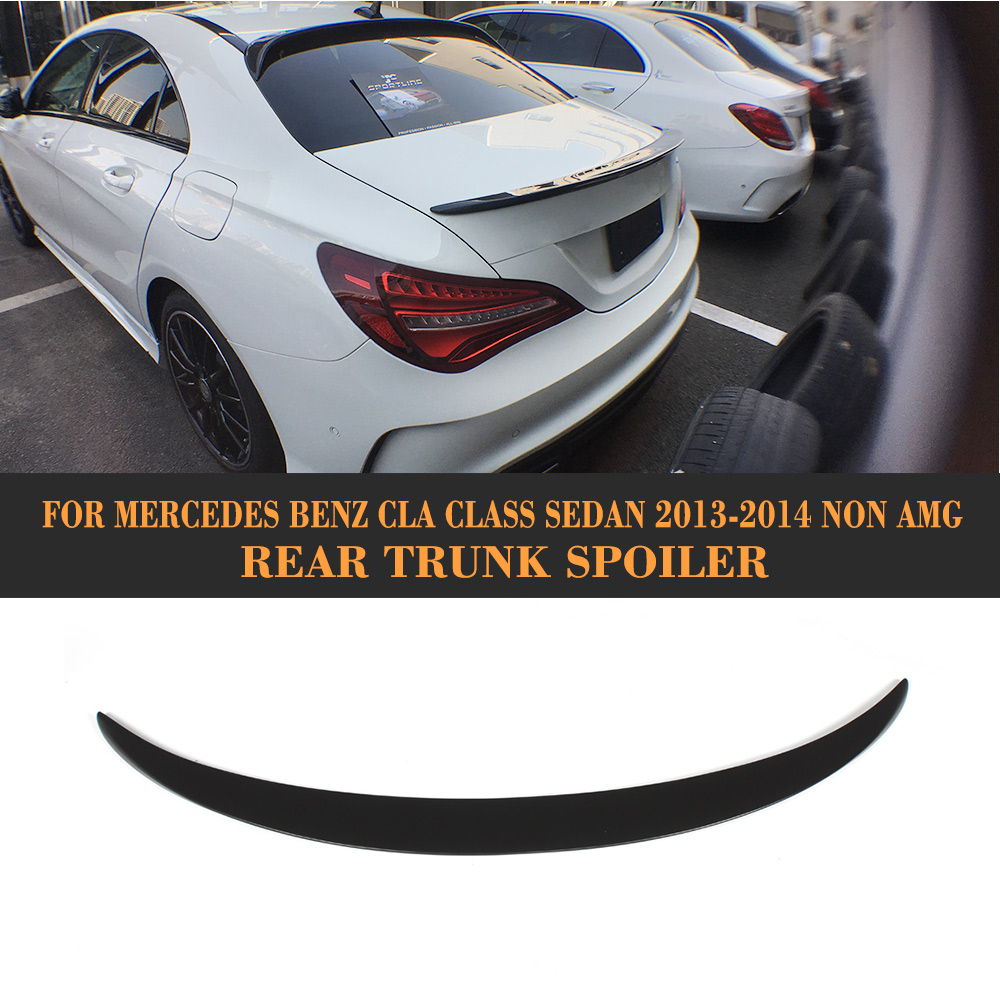 CLA Class Trunk Spoiler Boot Wing for Mercedes Benz CLA250 CLA200 CLA180 CLA220 CLA260 Sedan 2013 2014 Non AMG Black FRP amg style w205 carbon fiber rear trunk spoiler for mercedes benz w205 c180 c200 c220 c250 c300 c350 c400 c63 amg 2015 2017