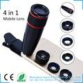 Apexel lente da câmera kit para iphone 6 6 s plus-12x Lente telefoto + Lente Olho de Peixe + Lente Macro & Wide Angle para smartphones Android 12CX3