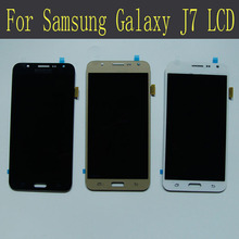 100% New High Quality For Samsung Galaxy J7 J700F J700M J700H Lcd Screen With Touch Screen Digitizer For Samsung J7 Lcd Display