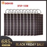 Dokio бренд 10 P Гибкая солнечная панель 100 Вт монокристаллическая водостойкая Гибкая солнечная панель 1000 Вт для дома на мотоцикле/кемпинга/лод
