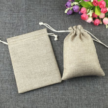 hot deal buy 1pcs fashion natural gifts jute bag cotton thread drawstring bags jewelry packaging display for wedding/party/birthday pouch