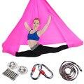 Volledige Set 5*2.8 m Hoge Sterkte Nylon Anti-Gravity Yoga Hangmat Swing Yoga Opknoping Riem Home Gym fitness Body Building Apparatuur