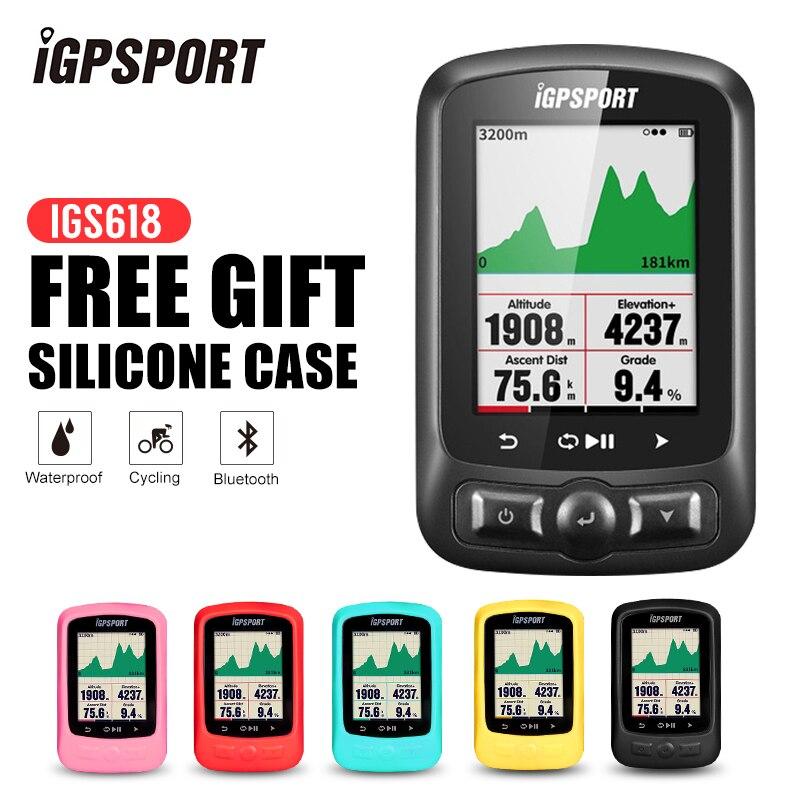 IGPSPORT ANT + GPS IGS618 Велосипедный блютуз Беспроводной секундомер Спидометр Водонепроницаемый IPX7 Велоспортный велосипедный Спидометр компьютер