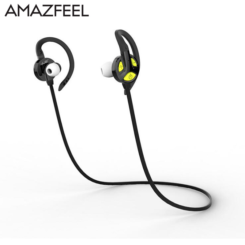AMAZFEEL Sports In-Ear Wireless Bluetooth Earphone Stereo Earbuds Headset Bass Earphones with Mic for IOS Android Samsung Phone running sports wireless bluetooth earphones bt 4 1 stereo bass in ear headphones headsets earbuds with mic for apple samsung lg