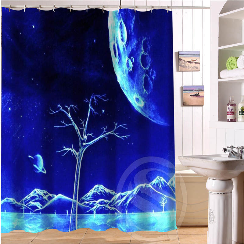 Magic Galaxy Personalized Custom Shower Curtain Bath Curtain Waterproof Polyester Fabric Shower Curtain MORE SIZE SQ0527-G254