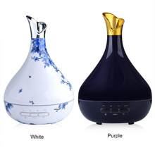 300ML Aroma Essential Oil Diffuser Ultrasonic Air Humidifier Purifier LED Lights Essential Oil Aroma Diffuser For Home Bedroom(China)
