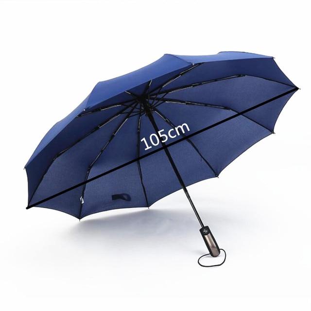 10 costole ombrelli pieghevoli grande automatica degli uomini delle donne ombrel