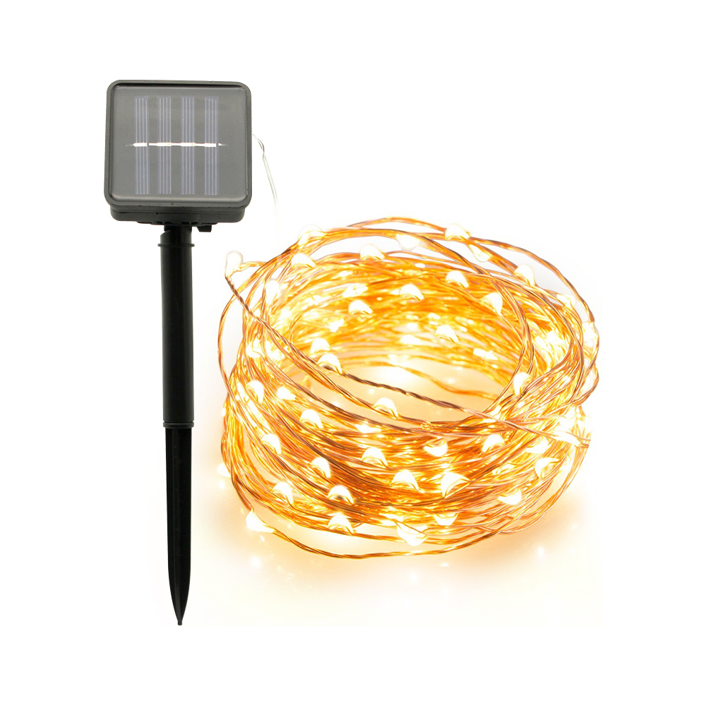 Outdoor 10M 20M Solar Lamp LED String Fairy Lights Flash 100/200leds Waterproof For Ramadan Christmas Garden Wedding Decoration