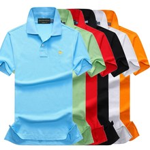 New Man Polo Shirt Mens Casual Deer Embroidery Cotton shirt Men Short Sleeve High Quantity small men 866