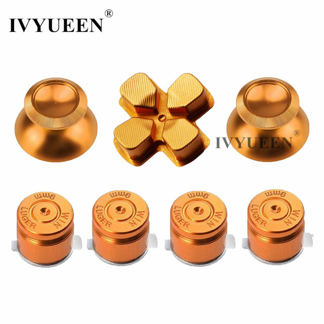 IVYUEEN for Sony PlayStation Dualshock 4 PS4 Pro Slim Controller Aluminum Analog Stick Thumbsticks Dpad Button Games Accessories