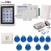 SmartYIBA Waterproof Digital Backlit Keyboard Door Access Control Password& Rfid Gate Opener Electric Door Lock System Fail Safe