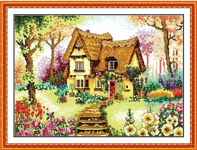 A Country cabin cross stitch
