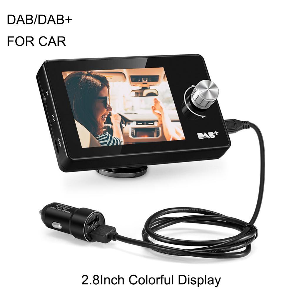 2.8 pouce 2 Din Autoradio couleur TFT LCD écran voiture DAB + récepteur Radio DAB Tuner FM émetteur lecteur MP3 chargeur USB