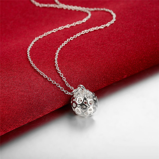Cheap promotions silver ball pendant necklace classic charm jewelry cheap promotions silver ball pendant necklace classic charm jewelry pretty party style europe hot aloadofball Image collections