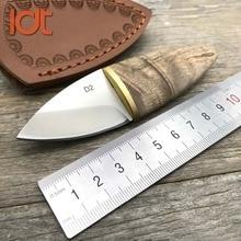 LDT Mini Olive Fixed Blade Knife D2 Blade Sandal Wood Handle Pocket Knives Survival Hunting Camping Straight knife EDC Tools цена 2017