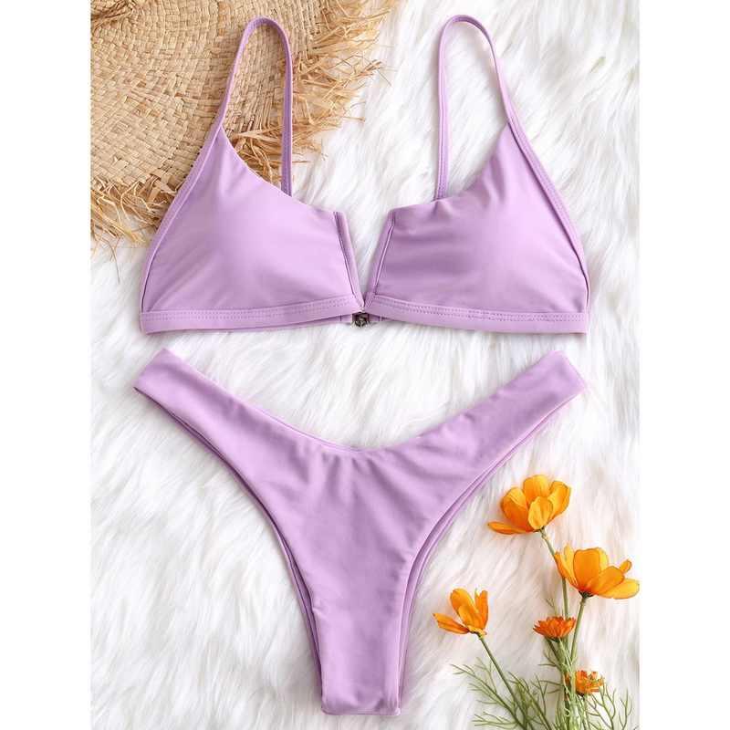 2019 Wanita Bikini Set Baru Musim Panas Push-Up Unpadded Bra Baju Renang Pakaian Renang Bathing Suit Pakaian Renang Biquini