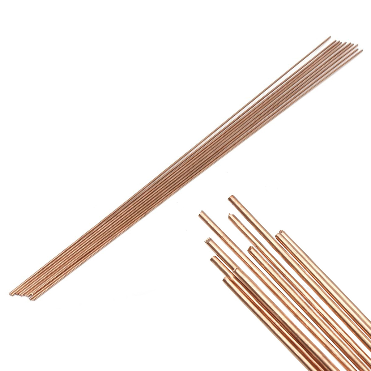 10pcs Solid Red Copper Rod Round Gas Bronze Rods 1.6x330mm For Riveting Cutting Tools 5 10 355 mm flat head carbon rod copper coated for arc air gouging 50pcs
