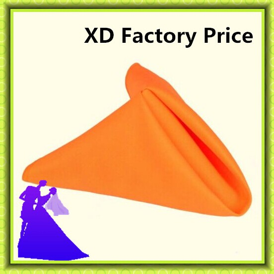 Marious Brand Orange polyester table napkin For Wedding free shipping