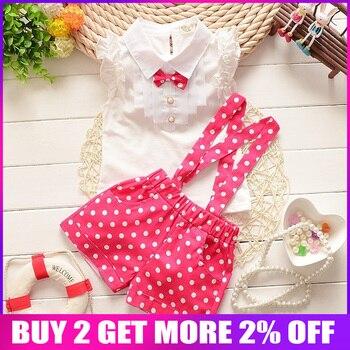 150cab1c0 BibiCola verano bebé Niñas Ropa conjunto niños niñas pantalones cortos +  t-shirt 2 piezas