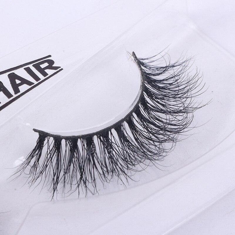 1 Pair 3D Mink False Eyelashes Natural Long Cross Fake Eye Lashes Extension Beauty Makeup Full Strip Individual Wispy Lashes