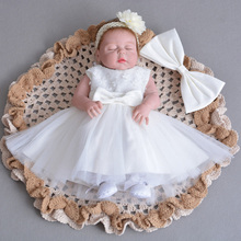 Christmas Baby Girl 1 Year Birthday Little Dress Infant Christening Gowns Kids Party Wear Clothes Toddler Girl Boutique Clothing
