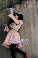 Envío gratis diario de futuro de Mirai Nikki Heroine Uryuu Minene Anime Cosplay por encargo vestido rosa Lolita estilo
