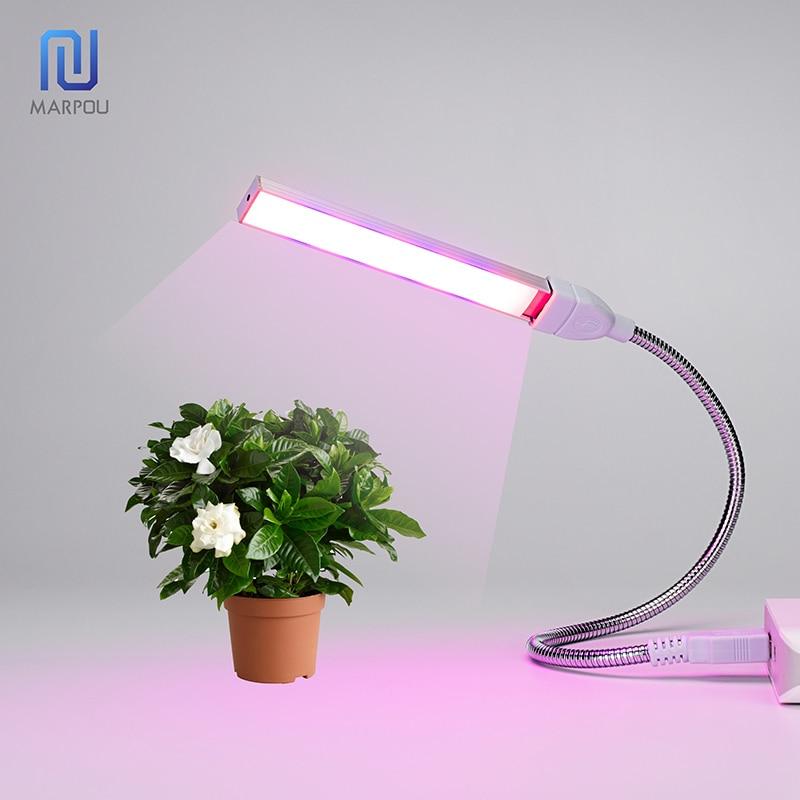 USB Led Full Spectrum Grow Light 3W/14LEDs 5W/27LEDs Flexible Fitolamp DC5V Phyto Easy Desktop Lamp IR UV for Plant Flower Grow(China)
