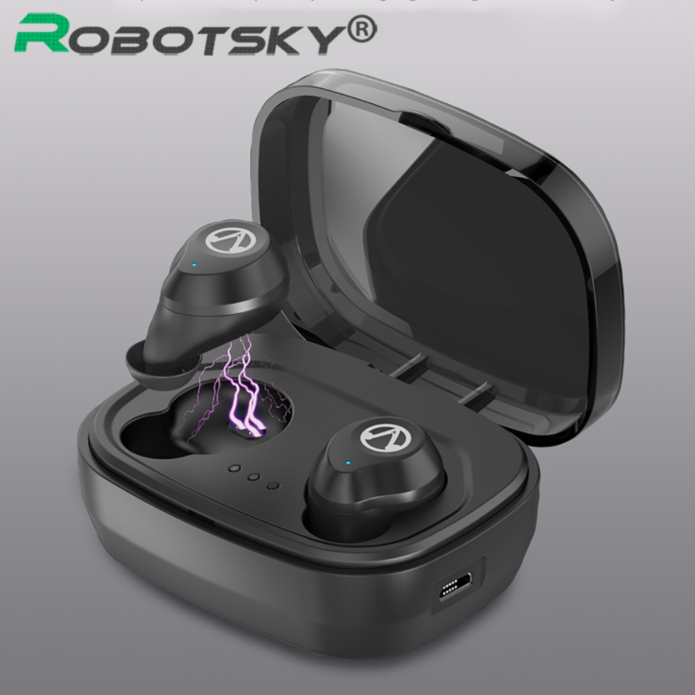 TWS-X10 Wireless Earbuds Bluetooth V5.0 Earphone Touch Control Stereo Music IPX6 Waterproof True With Charging Case 1600mAh