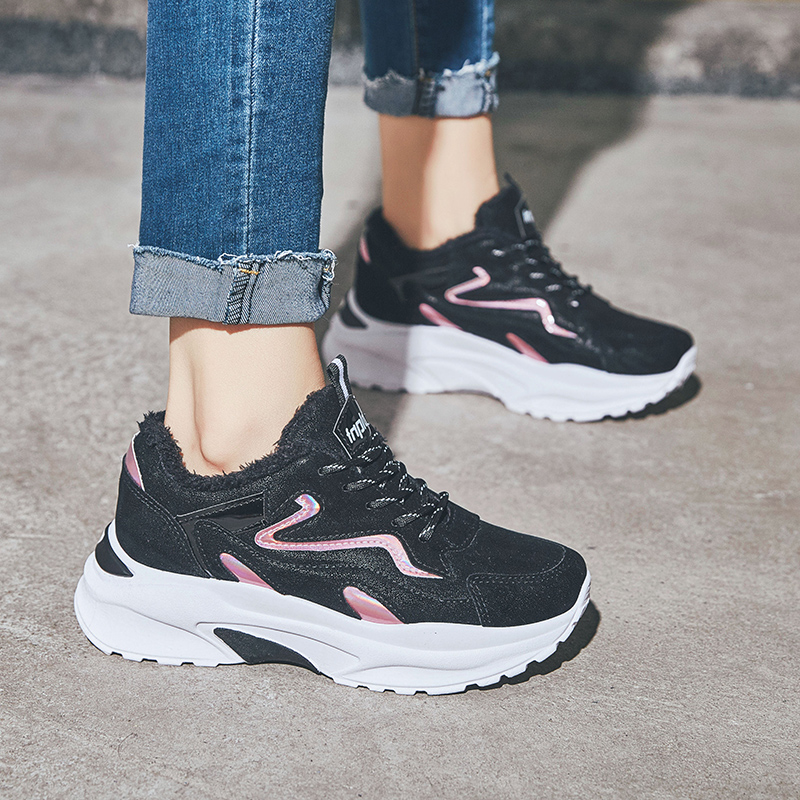 2018 winter platform shoes woman stability sneakers women Height Increasing sports shoe female sneaker running shoes for women