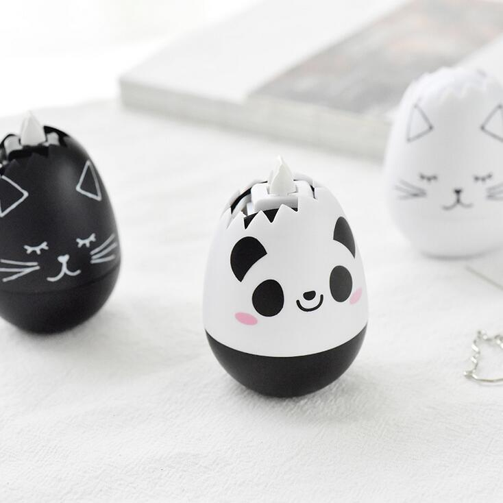 Novelty Animal Egg Press Type Decorative Correction Tape Diary Stationery School Supply