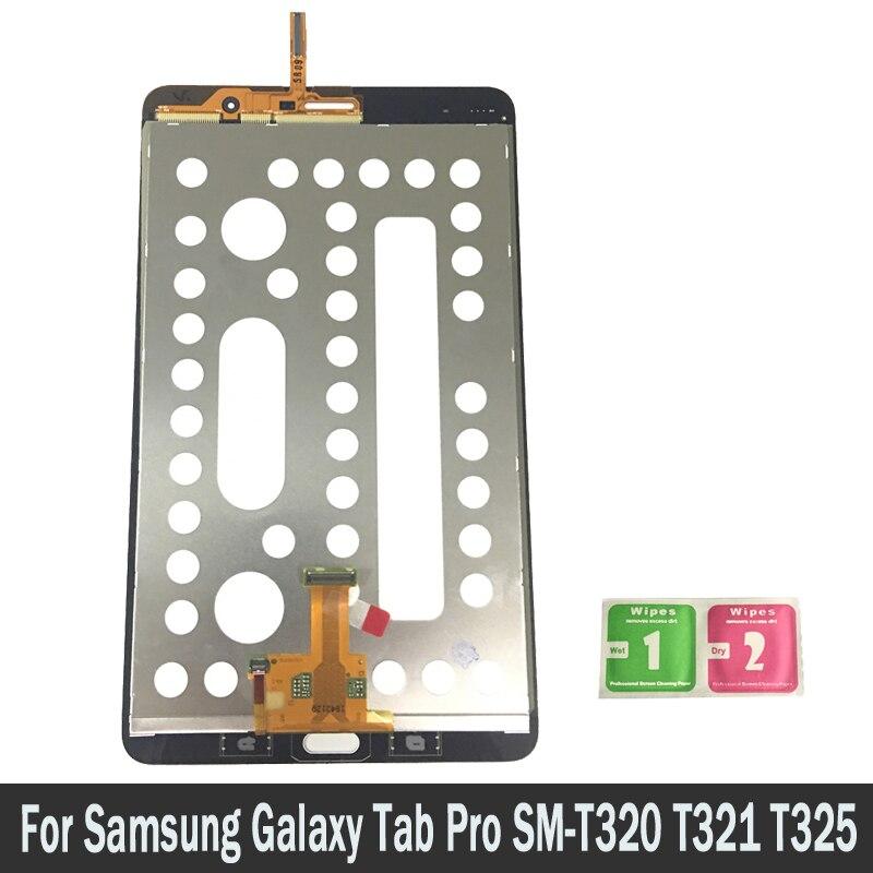 Pour Samsung Galaxy Tab Pro SM-T320 T321 T325 Tablet Lcd Dispaly Écran Tactile Digitizer Capteurs Panneau de Montage de Pièces De Rechange