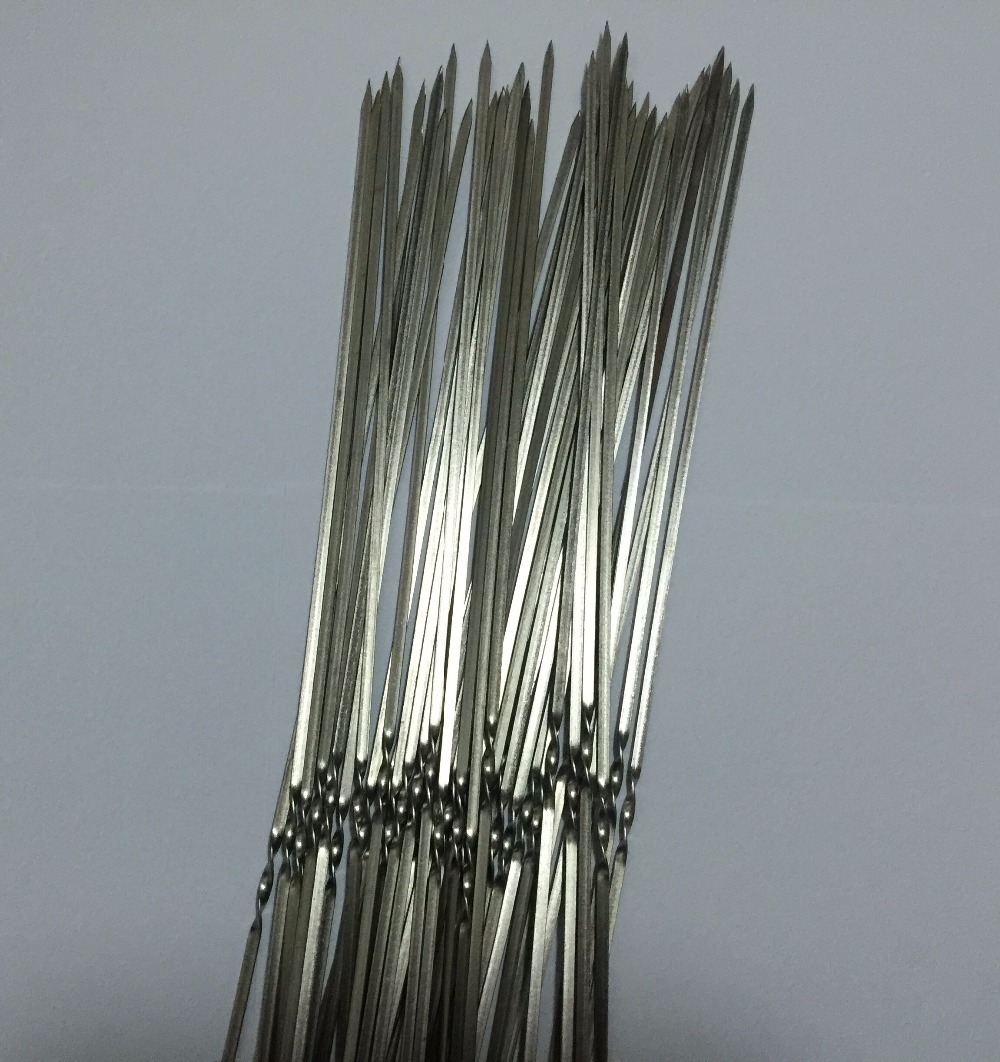 300pcs lot 25cm 4mm 1 2 mm Home Outdoor Camping Picnic Tools Round Roast Skewers Needle