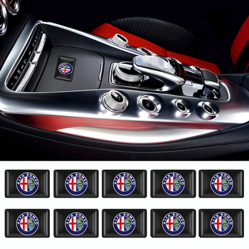 10 Uds. Automodelismo Auto pequeño adhesivo decorativo para volante Alfa Romeo Julieta 147 156 159 pegatina emblema