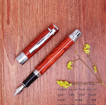 Duke 932 Scarlet Fountain Pen Buckingham Palace Noble Lacquer Quality Gift Pen Iridium Medium Nib Business Office Home Supplies