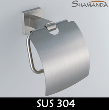 Free Shipping Bathroom Accessories Products Solid 304 Stainless Steel Nickel Brushed Toilet Paper Holder,Roll Holder-55008 цена 2017