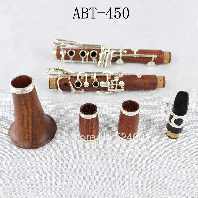 Composite ABT-450 E13 Rouge Bois Professionnel Clarinette Trop B Tuning, palissandre Acajou Clarinette Argenture accessoires Buffet Touches